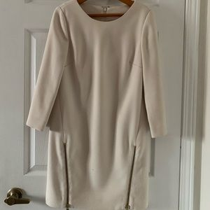 J Crew shift dress with zippers